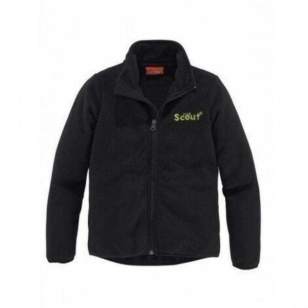 Scout Kinder Fleecejacke warme Jacke schwarz Stehkragen