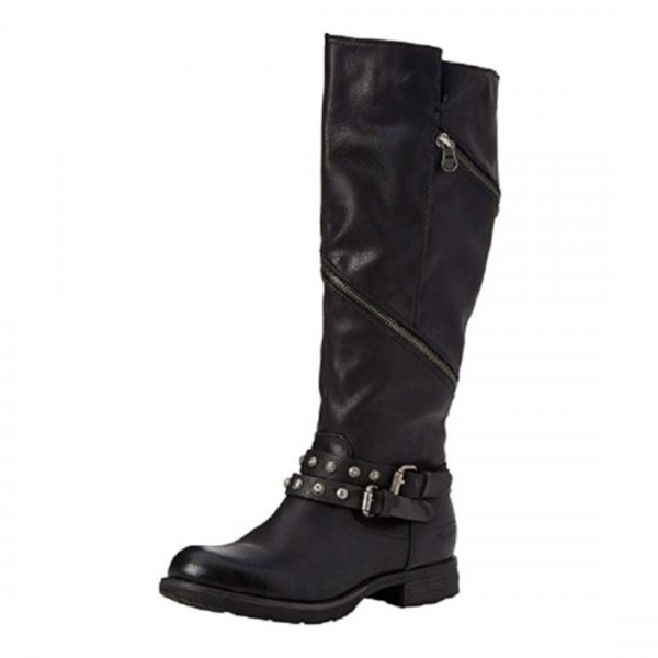 Tom Tailor Damen Schuhe Boots Stiefel Schwarz