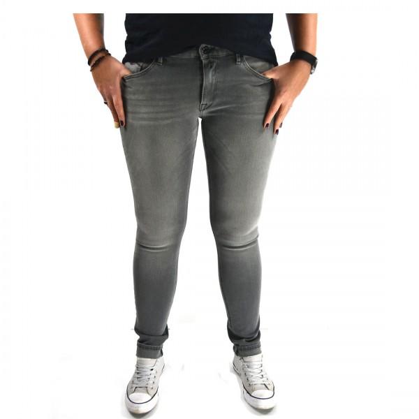 Replay Damen Hose Jeans LUZ Hyperflex™ Skinny Fit Denim grau