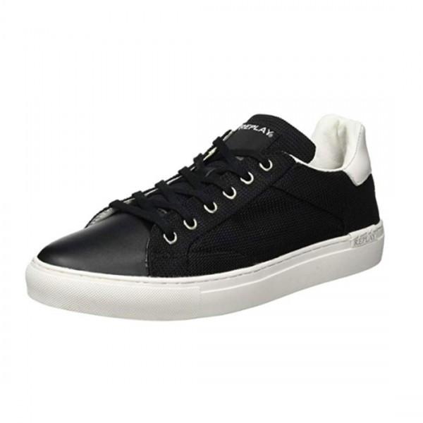 replay schuhe sneaker schwarz canvas herrenschuhe