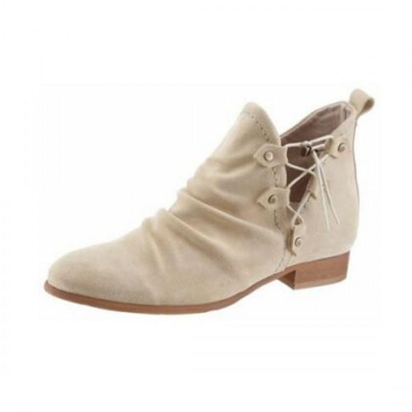 Dkode Damen Schuhe Stiefelette Chelseaboots Beige