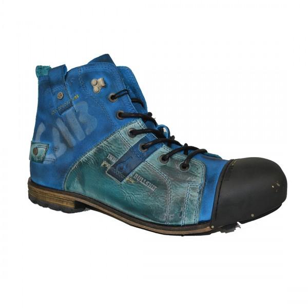 Yellow Cab Herren INDUSTRIAL M Y15012 Leder Schuhe Boots Stiefel Blau Blue