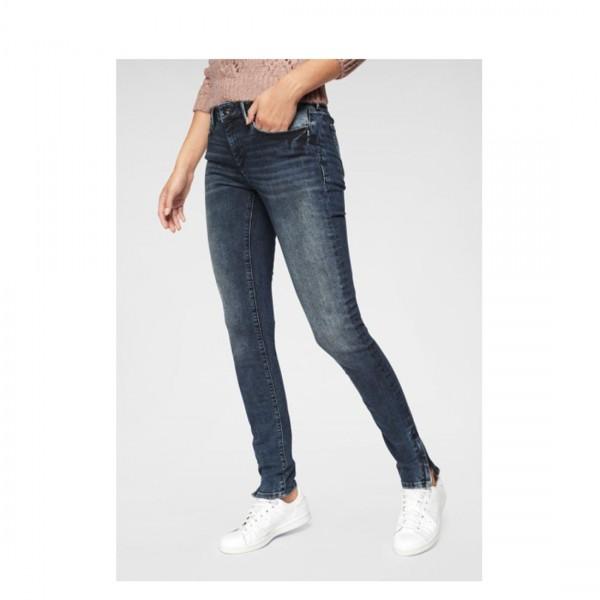 Mavi Damen Jeans Skinny Jeans Adriana Zip Ink Blue Glam