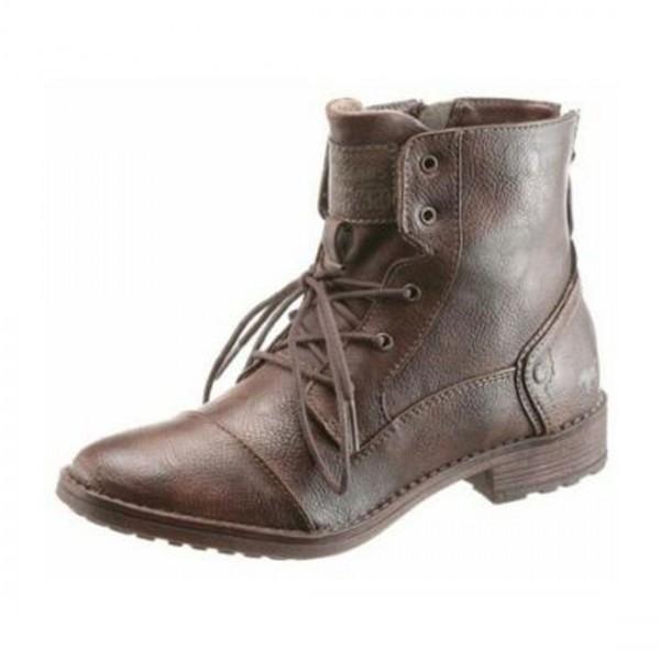 mustang damen stiefel schuhe boots booties braun