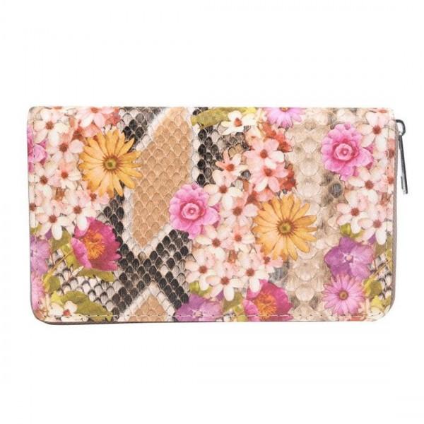 Damen Geldbörse Portmonee Brieftasche Geldbeutel Sommer Blumen Blüte Flower