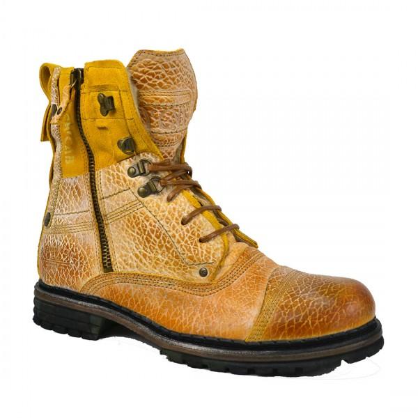 Yellow Cab Herren Sergeant M Y18075 Leder Biker Schuhe Boots Stiefel