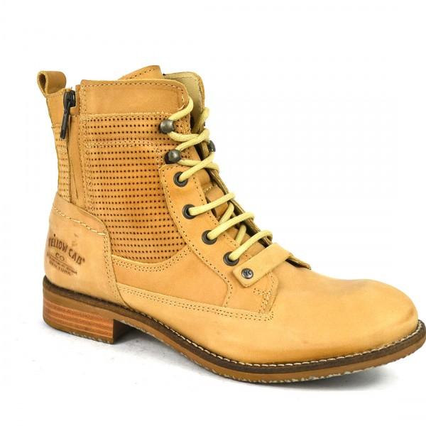 Yellow Cab PHOENIX W Stiefelette Y25069 Leder Stiefel Boots Damen Schuh Sand