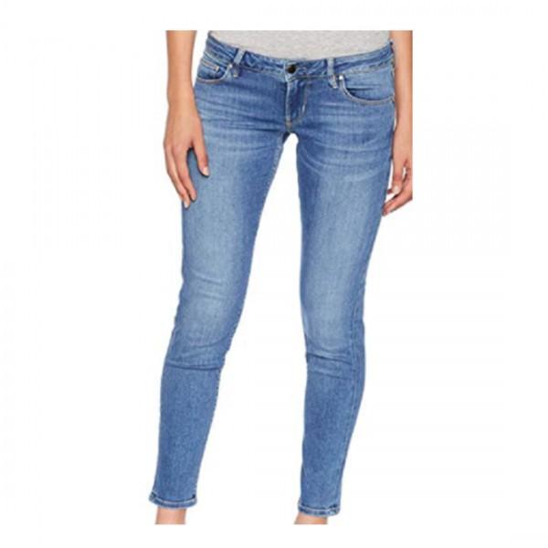 Guess Skinny Damen Slim Jeans 5-POCKET-JEANS SKINNY Blau