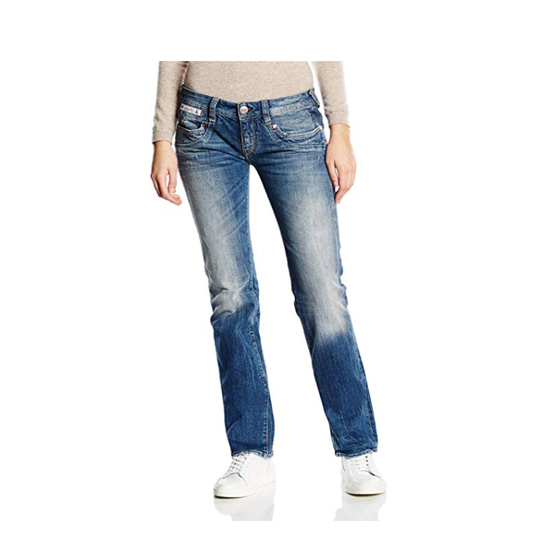 Herrlicher Piper Jeans Straight Leg Damen Grey Denim