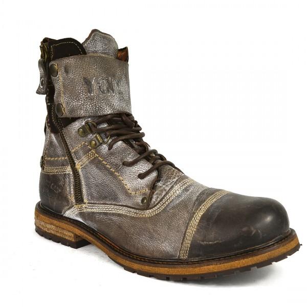 Yellow Cab Herren SOLDIER M Y18012 Leder Stiefel Biker Boots Schuh