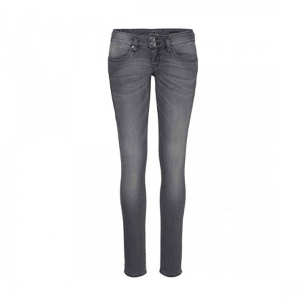 Herrlicher Damen Jeanshose Mora Slim Fit Jeans low waist Hose grau