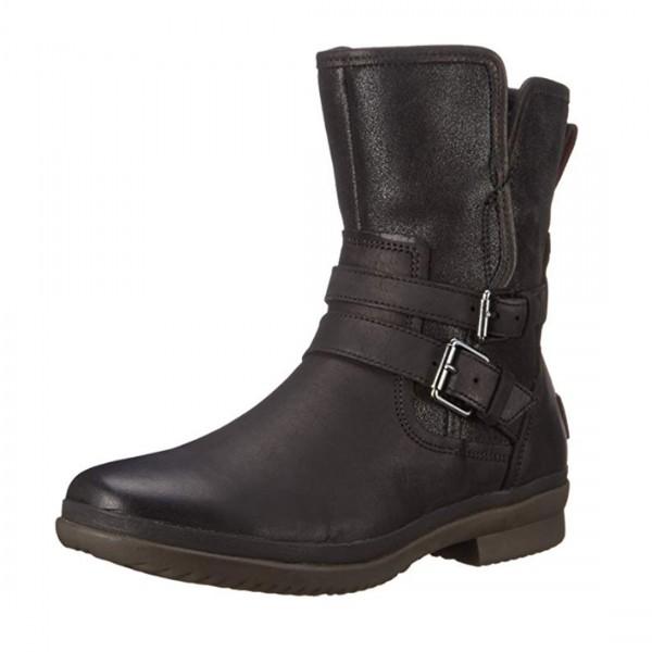 UGG® Damen Leder Stiefel Simmens Stiefeletten Boots Schwarz
