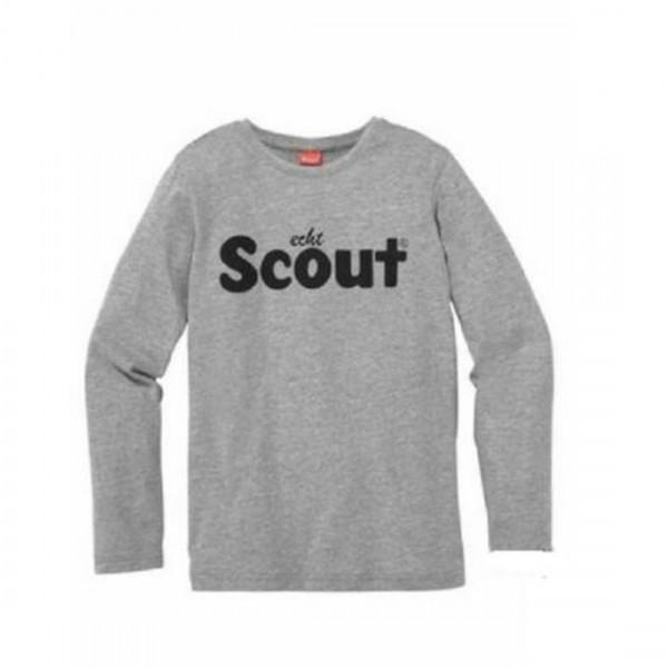 Scout Jungen Shirt T-Shirt langarm Logo grau Baumwolle