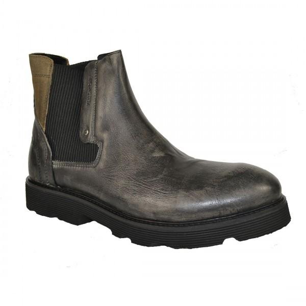 Yellow Cab Herren PISTON M Y16076 Leder Chelsea Boots Stiefel Schuh Taupe