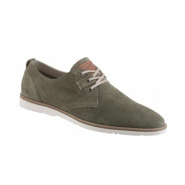 Petrolio Herren Schuhe Schnürschuhe Lederschuhe Olive