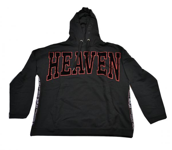 Replay Blackboard Damen Sweatshirts Kapuzensweatshirt Oversize Schwarz
