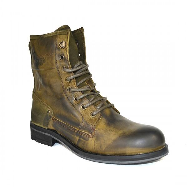 Yellow Cab Herren GUARD M Y18059 Leder Stiefel Biker Boots Schuh Moss
