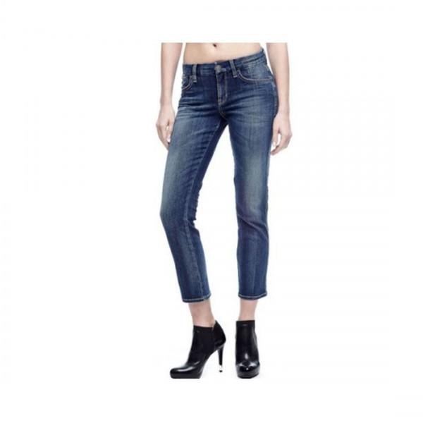 Guess Damen Jeans Shape Up Pencil Crop Mid Rise Straight Leg