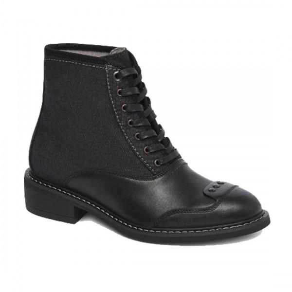 G-Star RAW Damen Lace Up Guardien Cow Leather Denim Schnürboots Boots Stiefeletten