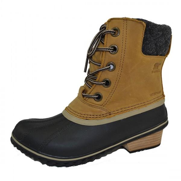 Sorel Slimpack II Lace Damen Schnürstiefel Boots Stiefel Waterproof Schuhe Braun