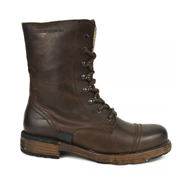 Yellow Cab UTAH 7 B Leder Stiefel Boots 7-B Herren Leather Schuh Brown