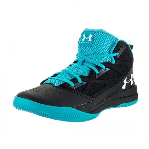 Under Armour Herren Mid Jet Basketball Schuhe Sneaker Hi Top Schwarz