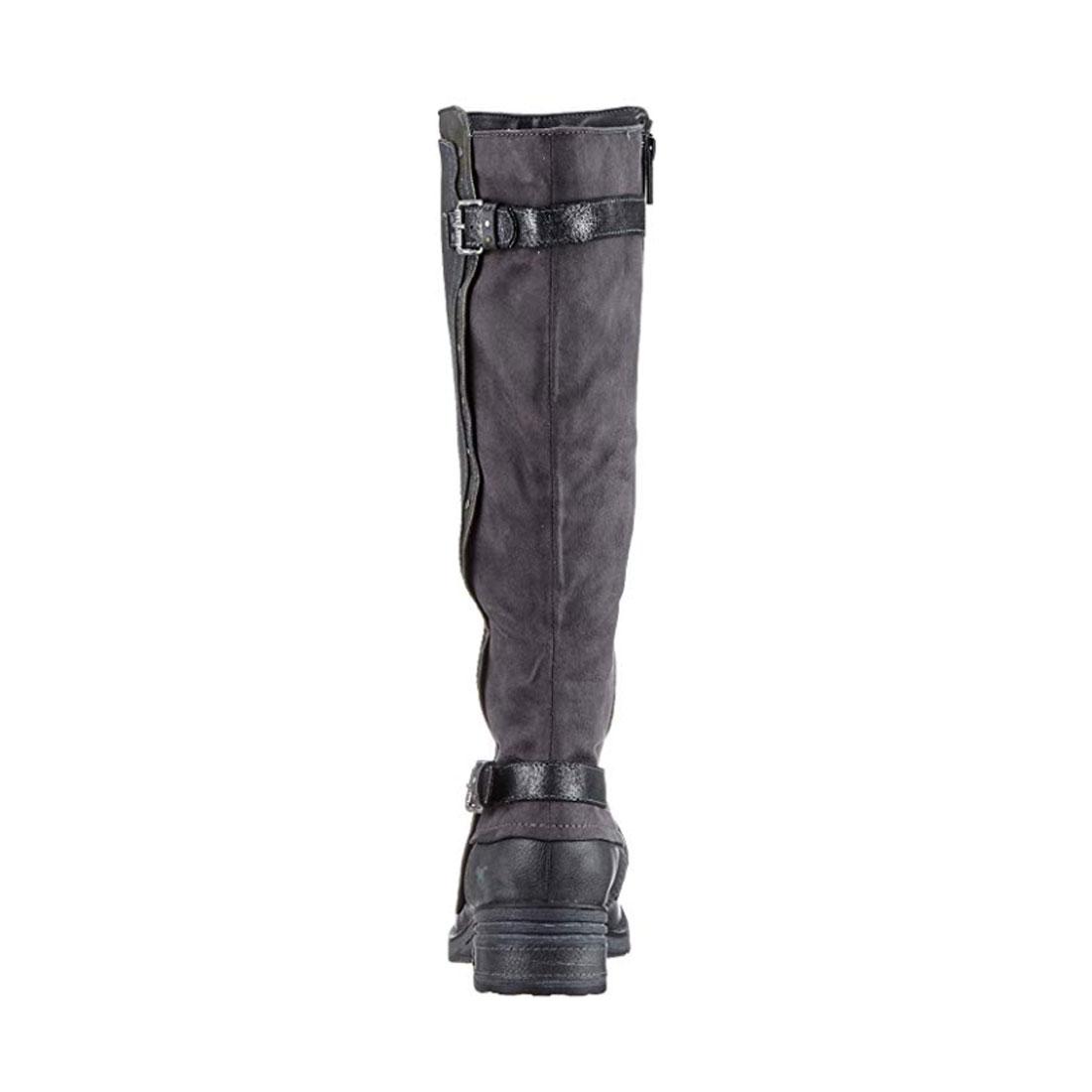 Mustang Damen Stiefel True Denim Biker Boots Schuhe antrahzit grau
