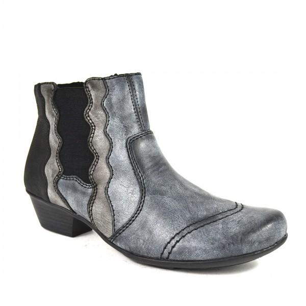 Rieker Stiefelette Damen Chelsea Ankle Boots Stiefel Biker Schuh
