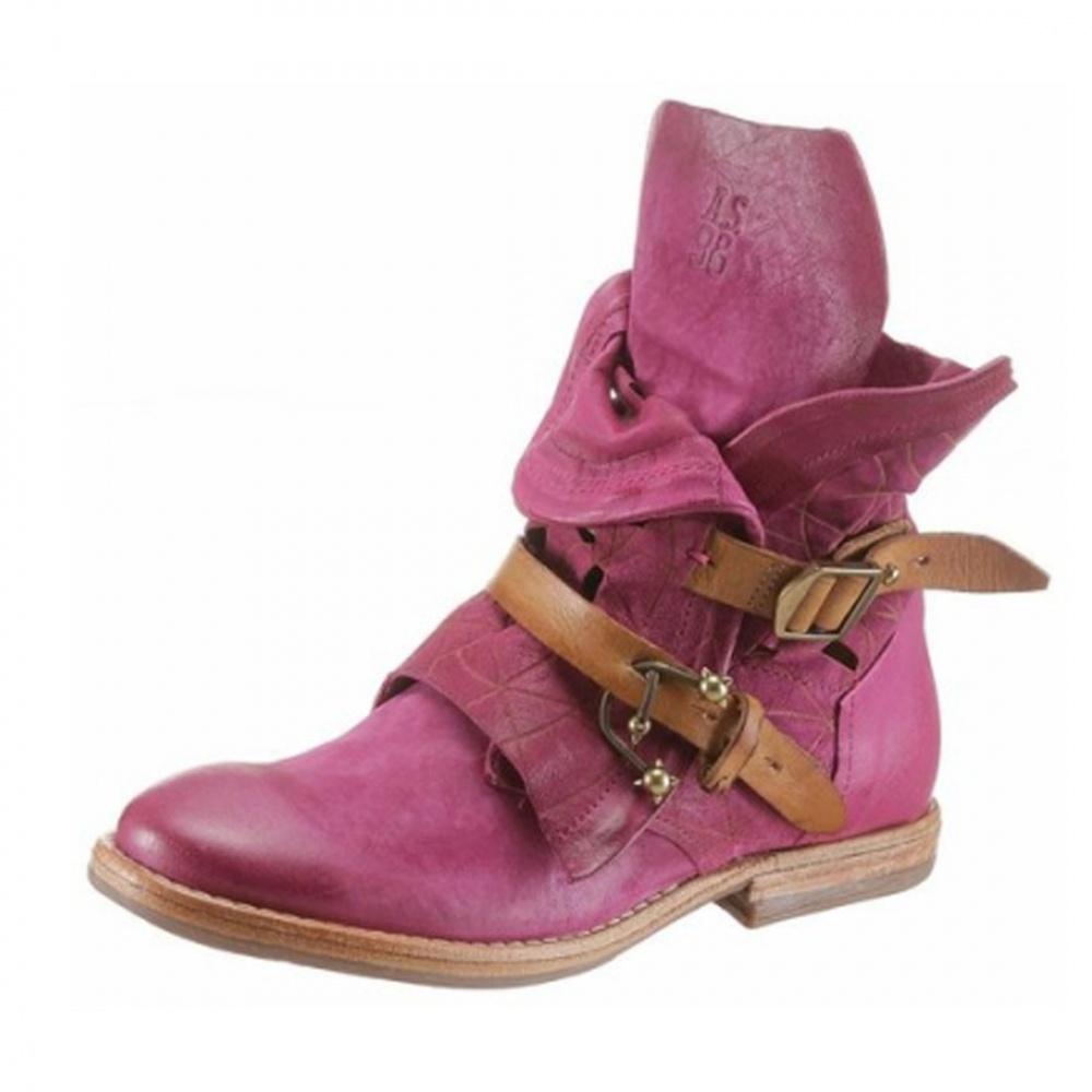 Détails sur A.s.98 AIRSTEP cuir Femmes Bottines Bottes Chaussures fushia bordeaux afficher le titre d'origine