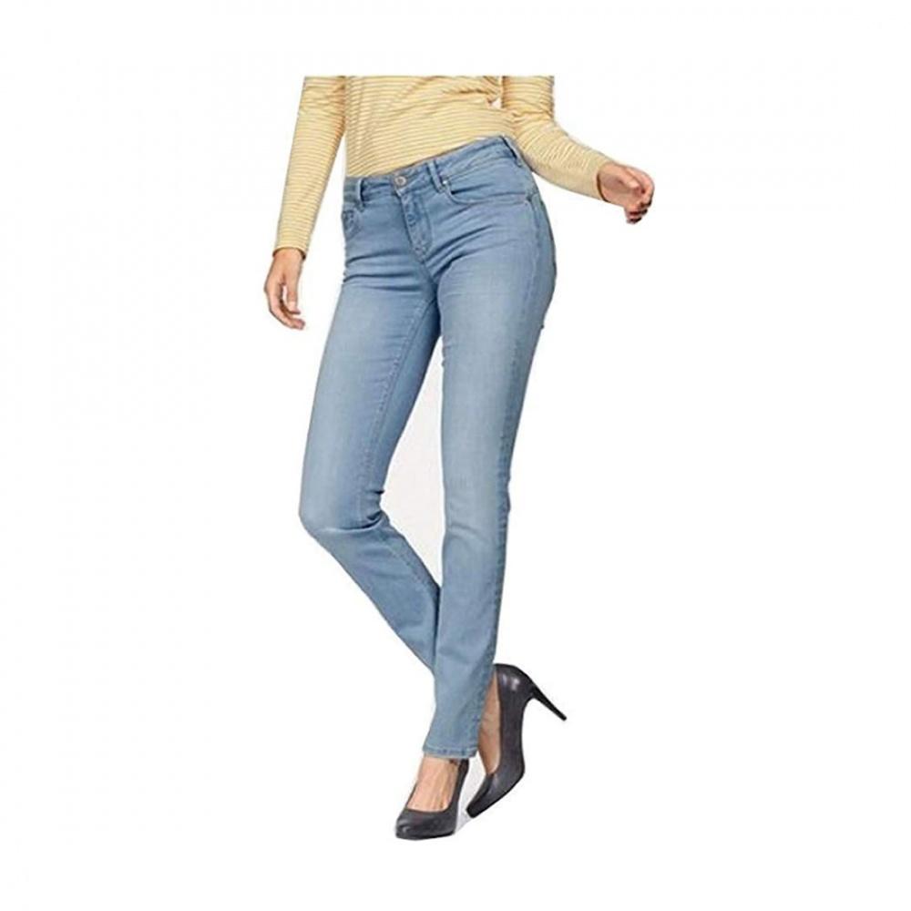 Details zu Gin Tonic Damen Jeanshose Tonic Flex Slim Fit medium rise mid waist slim Leg blu